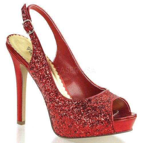 De Platform Hidden Fabuli Noir Pump Open Sexy Cious Lumina Glitter Red Toe Pleaser Burlesque Paillettes Goutte 8t0SSx