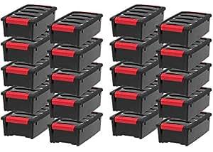 IRIS USA, Inc. TB-35 Stack & Pull Storage Box, 5 Quart, Black