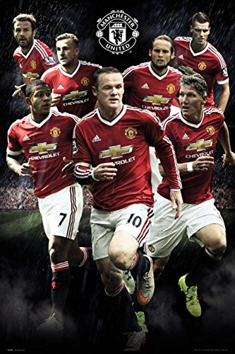 Manchester United- Players 15/16 Poster 24 x 36in - Manchester Bedroom Furniture