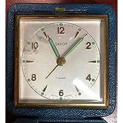 VINTAGE SAVOY 7 JEWELS ALARM CLOCK MADE IN WESTERN GERMANY