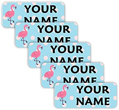 Personalised Flower Wreath Butterfly Splatter GLOSSY Stickers