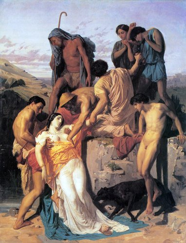 William Adolphe Bouguereau Zenobia Found By Shepherds On The Banks Of The Araxes   21 1  X 28 1  Peel   Stick Removable Wall Decal