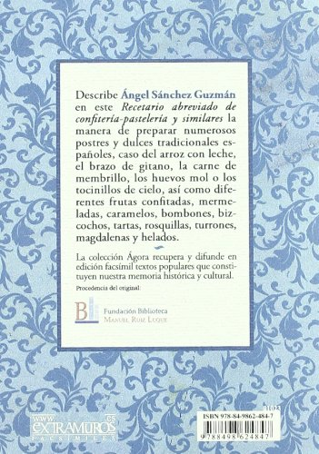 Recetario Abreviado de Confiteria-pasteleria y Similares: ANGEL SANCHEZ GUZMAN: 9788498624847: Amazon.com: Books
