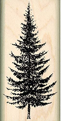 Pine Evergreen Small Christmas Tree Rubber Stamp Fir