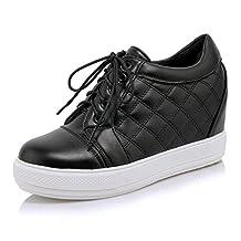 BalaMasa Girls Bandage Platform Solid Imitated Leather Boots