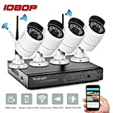 Yeskam Home Security Camera System 1080P Wireless 4 Channel Full HD Surveillance Cameras Auto Pair 2.0 Megapixel DVR Recorder Outdoor CCTV KIT No Hard Drive