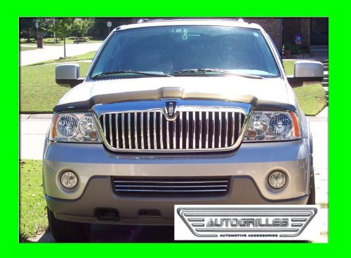 Upper 4 Piece Grille Grill - LINCOLN NAVIGATOR 2003 2004 LOWER CHROME GRILLE GRILL KIT 03 04 LIMITED LUXURY ULTIMATE ELITE