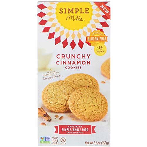 Simple Mills Naturally Gluten-Free Crunchy Cookies, Cinnamon, 5.5 oz
