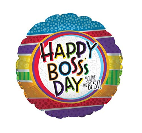 Happy Boss's Day - You're The Best! - Mylar Foil Balloon Gift for Boss - Office Work Job for Him Her ()