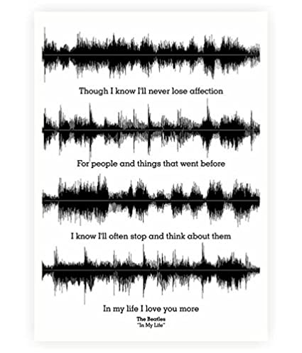 Amazon Lab No 60 The Beatles In My Life Lyrics Quotes Poster Classy Beatles Quotes Love