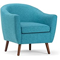 Simpli Home Roundstone Tub Chair, Aqua Blue