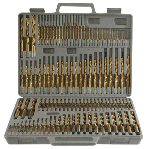 AVGDeals 115pc Titanium Drill Bit Set w//Index Case Number Letter Fractional For general purpose drilling in metal wood and plastic