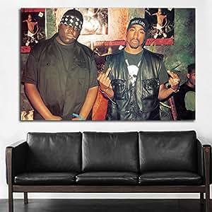 Amazon Com 21 Poster Mural Tupac 2pac Notorious Big