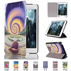 FIREUP Painting Design PU Leather Case Protective Case Folding Cover with Automatic Sleep Function for iPad Mini 4 - #Pattern A04 by FIREUP