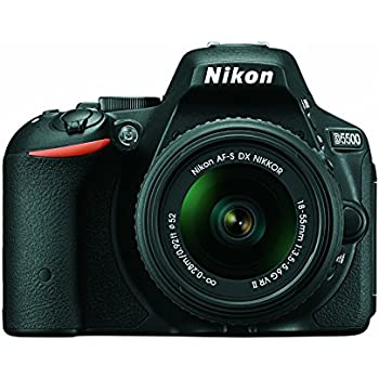 Nikon D5500 DX-format Digital SLR w/18-55mm VR II Kit (Black)