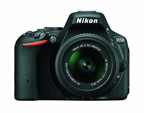 Nikon D5500 DX-format Digital SLR w 18-55mm VR II Kit (Black)