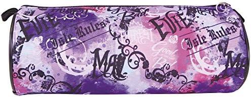 Violet Etui Fille Disney Descendants 9x21x7 Trousse Enfant /à crayon avec fermeture /à glissi/ère pour /école primaire et coll/ège Etui scolaire avec Evie et Mal Perletti