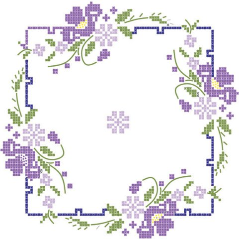 - Fairway 92403 Quilt Blocks, Pansies Design, White, 6 Blocks Per Set