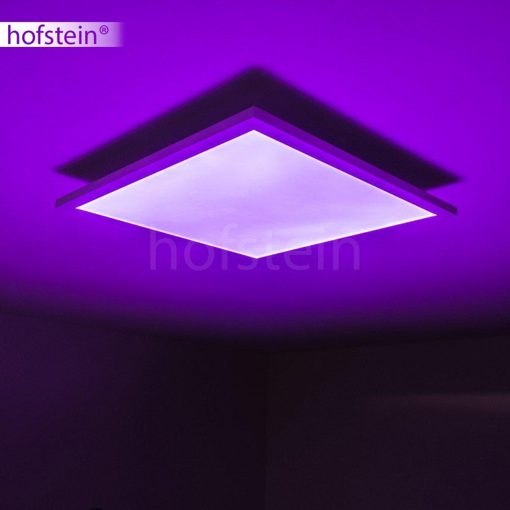 LED Designer Deckenleuchte Wabos 62 x x x 62cm – Deckenlampe mit RGB Farbwechsler und Fernbedienung – LED Panel + farbiges Licht – quadratische Lampe mit LEDs – 3200 Lumen – 3000 Kelvin - dimmbar 09eca7