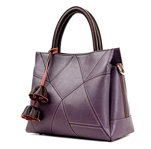 5eea0cbce3 24cm purple Designer E 30 Purple Tote Borse Bag Spalla 16 Donna Borsa Moda  wqTOp6naPx
