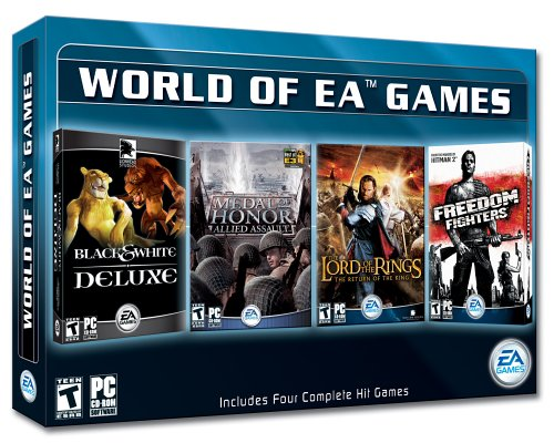 The World of EA Games: Black & White Deluxe / Medal of Honor Allied Assault / Lord of the Rings - Return of the King / Freedom Fighters (Lotr Return Of The King Pc Game)