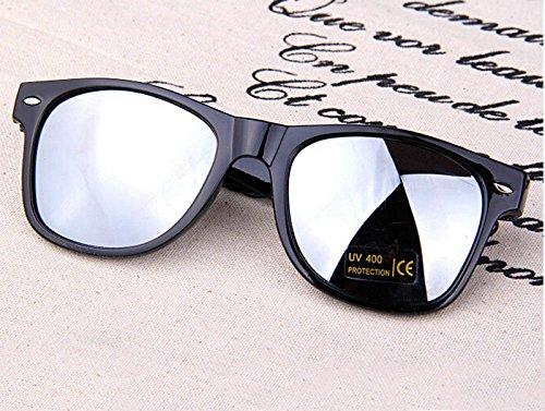 Gafas de Gafas 1pcs de Moda polarizadas 48×55mm Gafas Hombre Azul Metal y de Mujer Naranja Resina Sol Marco Sol de Sol BIGBOBA XqF7twt