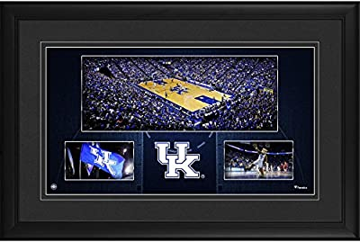 """Kentucky Wildcats Framed 10"""" x 18"""" Rupp Arena Panoramic Collage - College Player Plaques and Collages"""