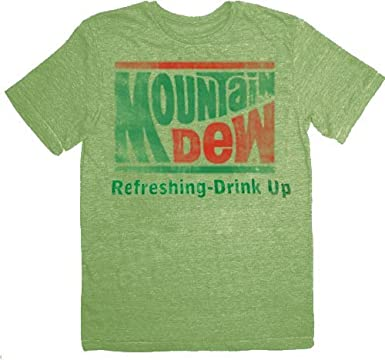 2935935cadbb0 Mountain Dew Refreshing Drink Up Vintage Adult Lime Green T-Shirt ...
