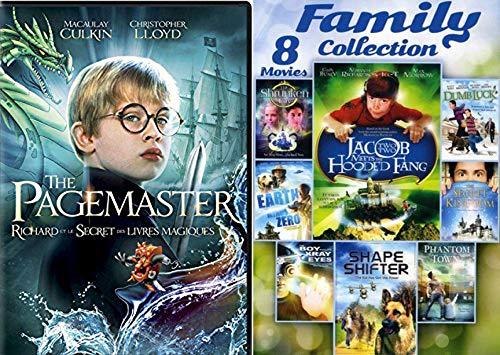 Kids got Power! 9 Fantasy & Adventure Family Movies The Pagemaster + Secret Kingdom / Boy with Xray Eyes / Shape Shifter / Phantom Town / Dumb Luck / Earth Minus Zero / Shrunken City (The Boy With The X Ray Eyes)