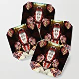 Society6 Drink Coasters, The Hero Twins by dividus, set of 4