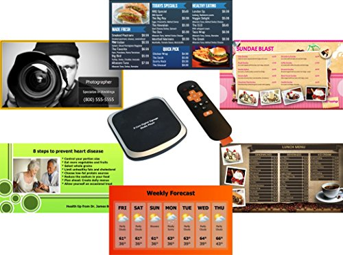 - doPublicity 4K Digital Signage & Menu Board - No Monthly/Annual Fee - 2,000+ Templates for Restaurant Menu Boards, Advertising, Corporate Messaging, Product, Weather on HD / 4K TV