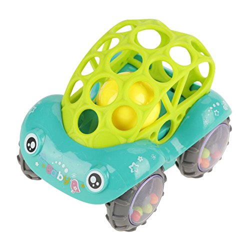 - GLOGLOW Rattle and Roll Soft Car, Powered Cars Push and Go Car Easy to Grasp toy Musical Instruments for Baby Entertainment Birthday for Children(Green)