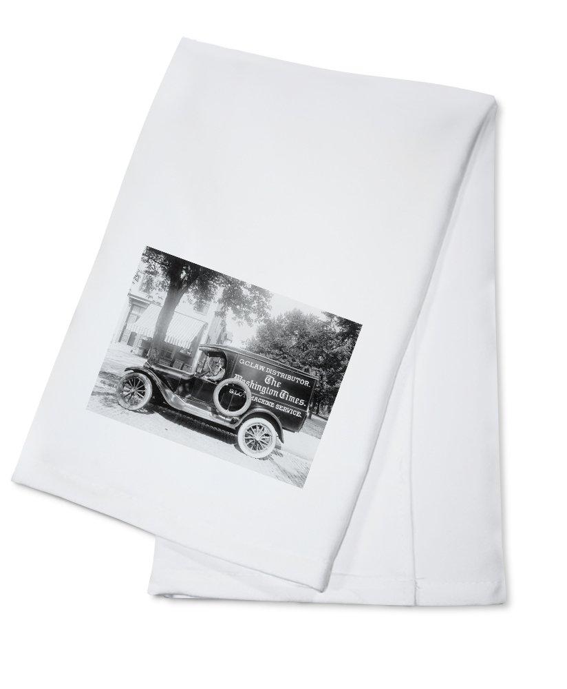 ワシントンTimes新聞Truck写真 Cotton Towel LANT-4906-TL Cotton Towel  B0184BBTBA