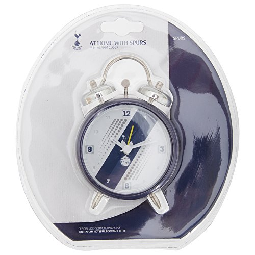 Tottenham Hotspur FC Official Stripe Soccer/Football Crest Alarm Clock (One Size) (White/Blue) by Tottenham Hotspur