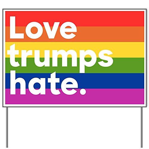 Love Trumps Hate Rainbow 18x24' Yard Sign by Debbie's Designs