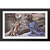 Tristan and Isolde 40x24 Large Black Wood Framed Print Art by Salvador Dali