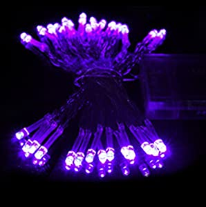 Liroyal 4M 40 LED Purple Battery String Lamp Light Fairy Christmas Party: Amazon.co.uk: Lighting
