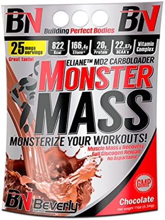 Beverly Nutrition Monster Mass - 5 Kg Strawberry: Amazon.es ...
