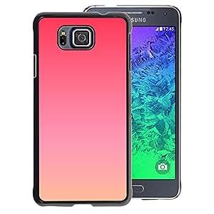 A-type Arte & diseño plástico duro Fundas Cover Cubre Hard Case Cover para Samsung ALPHA G850 (Purple Sunset Summer Peach Orange)