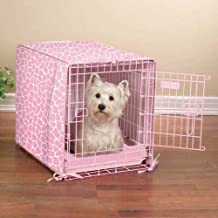 Proselect Sweet Safari Crate Cover and X-Small Petal Pink Bed Set