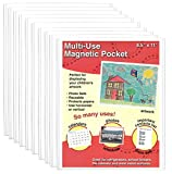Magtech 81110 Magnetic Picture Frame Magnetic Multi-Use Pocket, 10 Pack