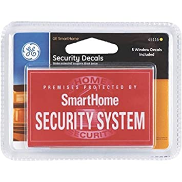 Amazoncom GE Security Window Decals Home Improvement - Window decals for home security