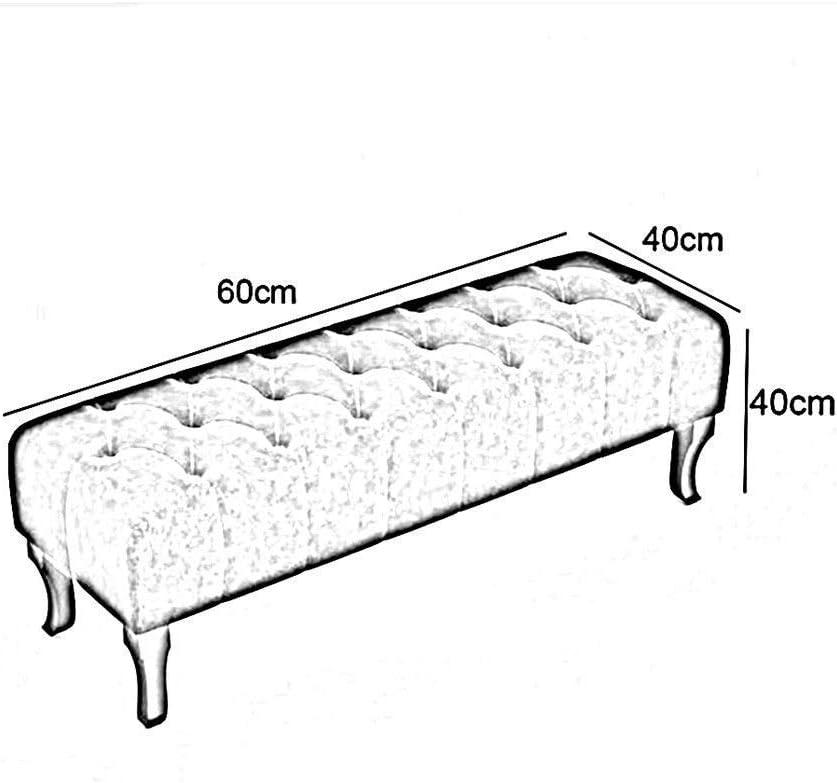 YUMUO Gepolsterter Polsterhocker aus multifunktionalem Polsterstoff mit Fußschemel, Wohnzimmer, Schlafzimmerfußschemel (Farbe: n & deg; 3, Größe: 80 cm) 3
