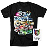 Voltron Legendary Defenders Paladins T Shirt & Exclusive Stickers (X-Large)