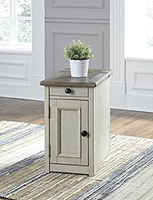 Ashley Furniture Signature Design T637-7 Bolanburg Chair Side End Table, Two-Tone