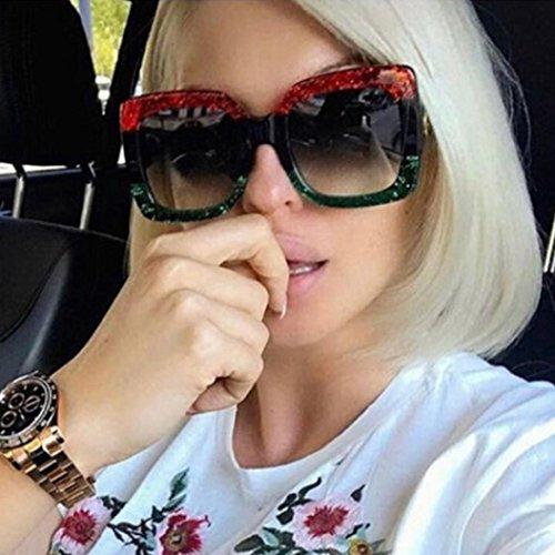 1f23731416 DDLbiz NEW Oversized Square Luxury Sunglasses Gradient Lens Vintage Women  Fashion (C)