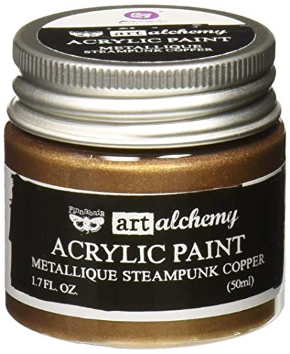 Prima Marketing 963064 Finnabair Art Alchemy Acrylic Paint, 1.7 fl. oz, Metallique Steampunk Copper
