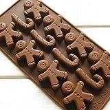 Hayabusa TM The silicone mold Gingerbread man cane Chocolate ice mold non-stick easy mold release