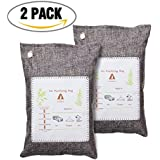 AUDEW Air Purifying Bag, Natural Activated Bamboo Charcoal, Odor Eliminator Neutralizer for Cars, Home, Closets, Bathroom and Pet Areas , 200g x 2 pcs