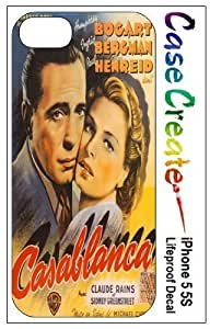 Casablanca Vintage Poster Decorative Sticker Decal for your iPhone 5 5S Lifeproof Case
